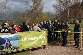 Ullswater Way launch with Eric Robson