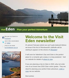 Visit Eden newsletter